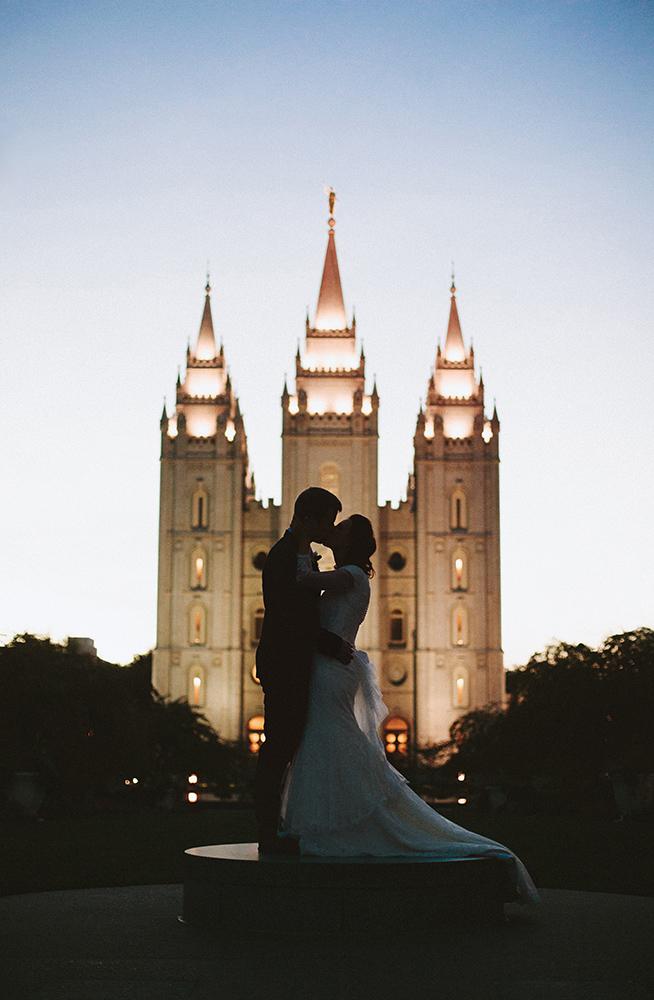 John & Kamera Wedding | Salt Lake Temple